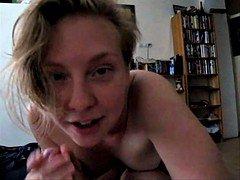 Swedish PHD student Josefine gives proficient blowjob