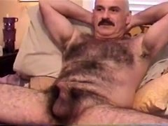 Giving head of sexy unshaved moustache daddy