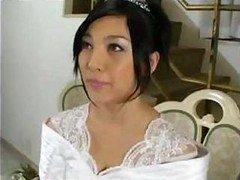 Amazingly-looking bride Saori Hara has an intercourse her fiancee after wedding