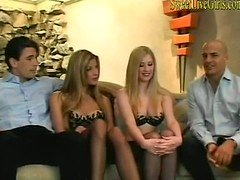 Foursome With Two Blondes Taking It In Both Holes1 windows media video