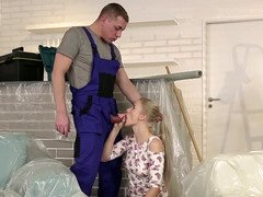 Excited blonde seduced dad's buddy for a dirty rectal