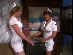The nurse's uniform gets torn while some hot banging proceeds