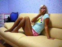 Pantyhosed broad
