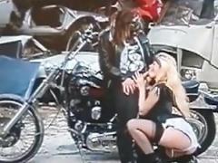 nasty white trash biker bitch