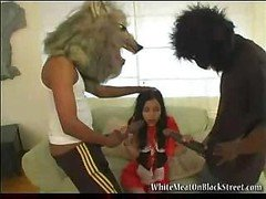 Monster love pole attack for the hot undersized legal teen taking it absolutely all in