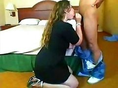 Slightly fat babe blows off on a love tool while using a sextoy on her vag