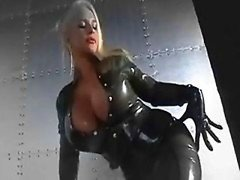 Smoking hot latex covered boobs and moreover faces  music video