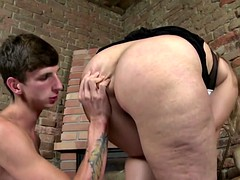 chubby mature mother seduce young stallion