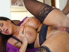 A milf gets fucked in front of her cuckold husband by a black dude