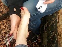 Stranger appreciating my feet