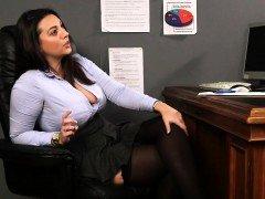 Cfnm office domina laughs