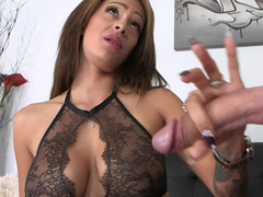 A brunette that loves cock is bending over and her pussy is fucked