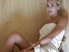 Geil in der Sauna Wichs mit mir
