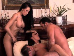 Hot foursome session with Valentina and moreover Mela
