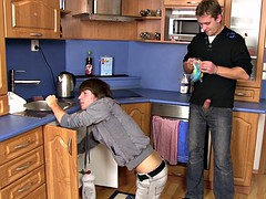 Plumber turns into a homo slut boy