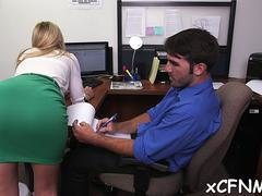 clothed beauty blows off well non-professional clip 1