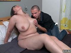 Rotund babe is vag pounded after blowjob
