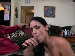 Jasmine Caro on her knees to suck dick like a good slut