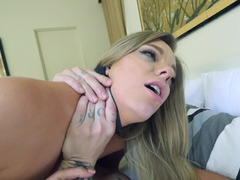 Two sexy things are tied up and fucked by a dominant guy