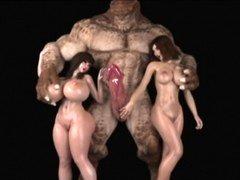 3D Ogres and besides Monsters Destroy Broads!