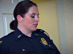 Bigass female domination cops ride black suspects cock