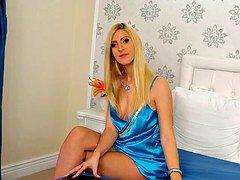 hot blonde satin woman