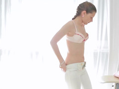 Lovely minx gets her sexy pussy massaged in this film