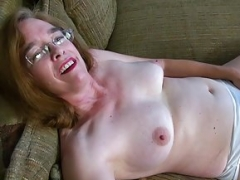USAwives Unshaved Granny Pusssy Fucked With Sex Dildo