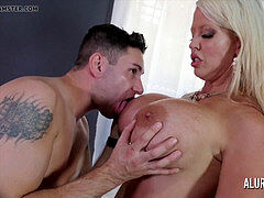 ginormous boob mummy Alura Jenson loves fucking younger men