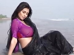 Saree Somudro Hot Edit Maria Black Saree
