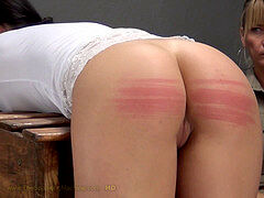 Gals, flagellating, caning