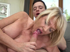 Hot granny Milf Amy gets seduced by her younger neighbor