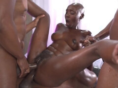Real Zaawaadi joins assfucked Cherry Kiss and Malena Nazionale