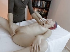 She squirts at the massage! Hot Brazilian Teenage Cherry Adams