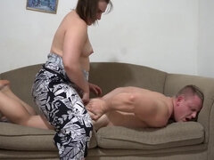 Rock-Hard Deep Pegging Denied Ejaculation!