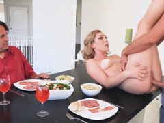Lily fucks chef while husband watches