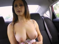 TEENGONZO Boobalicious 18-19 year old Ashley Adams takes on a huge fuck pole