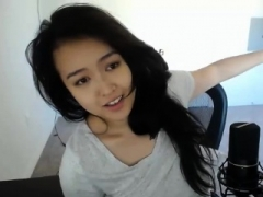 Attractive asian babe hot solo self-satisfaction