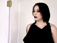 goth mega-bitch takes 2 hard-ons