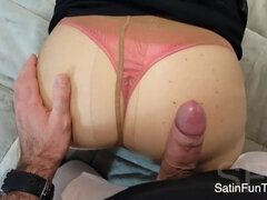 Fetish POV sex with cumshot - bubble butt in sexy pantyhose