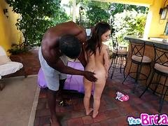 Kylie Rose rides on top of that big black cock