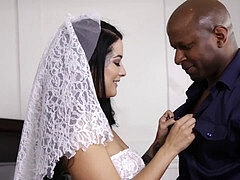 interracial internal cumshot with bigass bride Katrina Jade and bbc