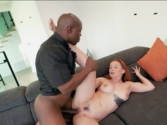 Super hot virgin Sloan Harper first sex with black preacher