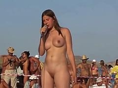 Russian Broad Dance at Nudist Beauty Contest