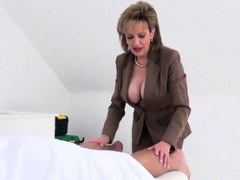 Unfaithful english eager mom dame sonia showcases her sizeable titti