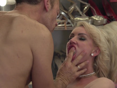 Unstoppable Rocco Siffredi nails hard Elen Million and then Cara Wolf