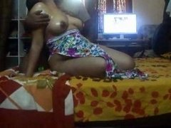 Indian housewife Sonny jugs exposed with hot oil massage wow