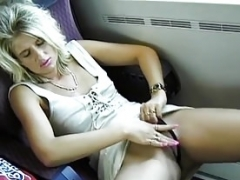 german couple gets down and dirty at the train