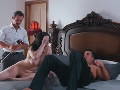 Husban films his hot wife having sex with another man