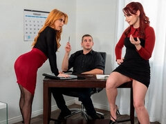 Penny Pax and Violet Monroe are getting fucked from behind